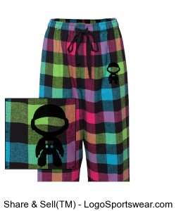 Adult Drawstring Flannel Pants Design Zoom
